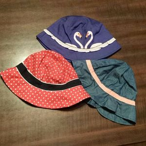 Bundle of three toddler girls sun hats NWOT